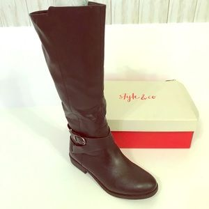 Style and CO -NIB- Black Wide Calf boots 8.5